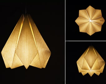 Origami lampshade etsy brownfolds white paper origami lamp shade vanilla bliss single pack aloadofball Image collections