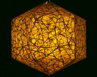Brownfolds Nest Texture Brown Paper Lantern