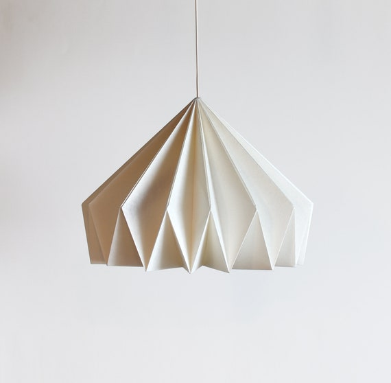 Brownfolds white paper origami lamp shade; Vanilla Bliss dual pack