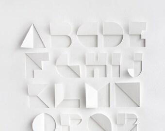 Alphabet Cutwork