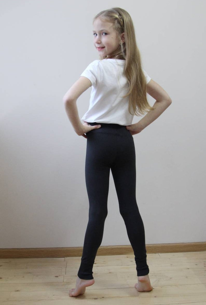 6da9d50f15184e Gray leggings for girls Organic leggings for girls Tights for | Etsy