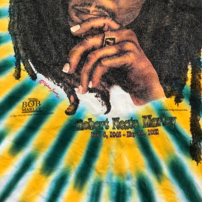 Super Rare Vintage 1997 Robert Nesta Marley Tye Dye