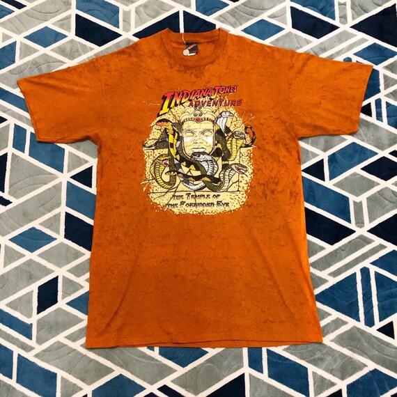 Rare Vintage 90's Indiana Jones Adventure Tye Dye