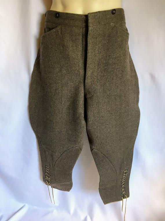 Vintage 1940s CC41 Tweed Jodhpurs Breeches Pantalo