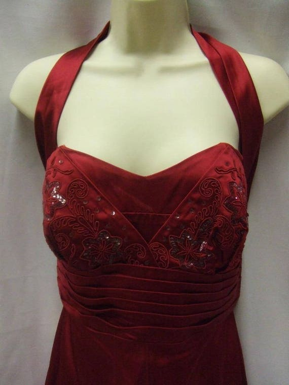 1950's Cherry Red Halterneck Dress