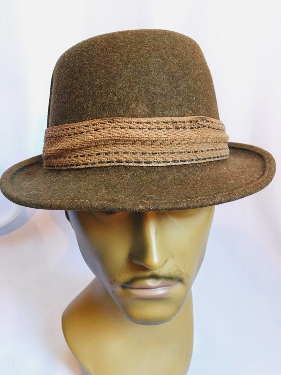 Vintage 40s 50s Trilby pork pie hat Dunn and Co Br