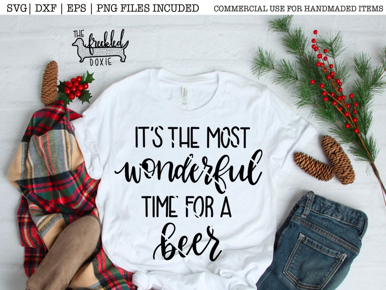 Es ist die schönste Zeit für ein Bier SVG Weihnachten SVG | Etsy