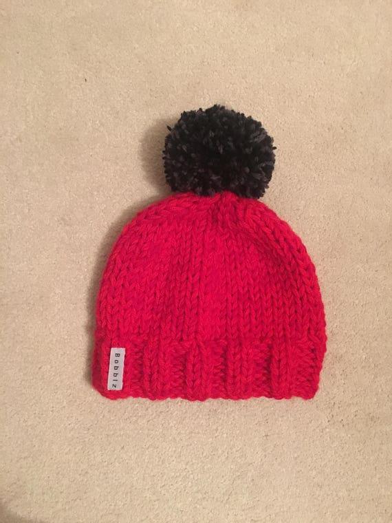 Men s bobble hat women s bobble hat red hat grey  95b604164c2