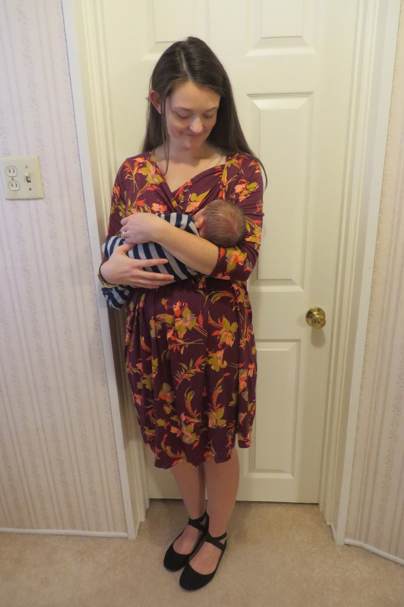 179d195f84b94 Nursing Dress Liz Lange Maternity Floral Dress Size Large | Etsy