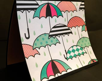 Set of 3: Blank Rainy Day Greeting Cards with Envelopes