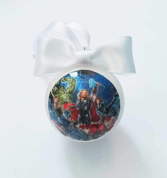 Marvel Christmas Tree.Marvel Avengers Christmas Tree Baubles Decorations Pick Your Own Colour