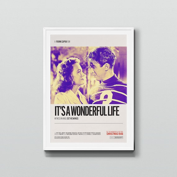 VINTAGE IT/'S A WONDERFUL LIFE FRANK CAPRA/'S POSTER A2 PRINT