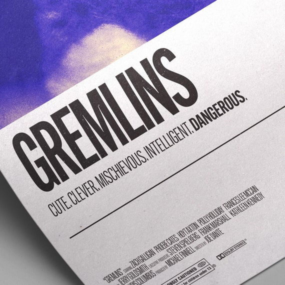 A2 Gremlins 2 Vintage Movie Poster A3 A1 A4 Sizes Available