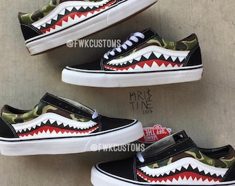 cf37ec4166 Bape Old Skool Vans Custom