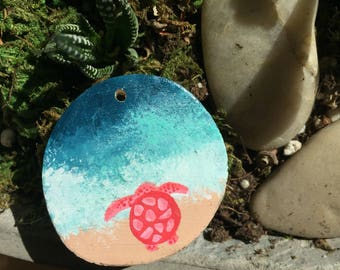 Pink Sea Turtle Necklace