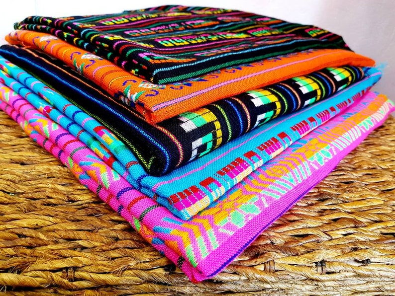 6f8b6f13867 Traditional colorful Mexican fabric   Mexican Fiesta decor