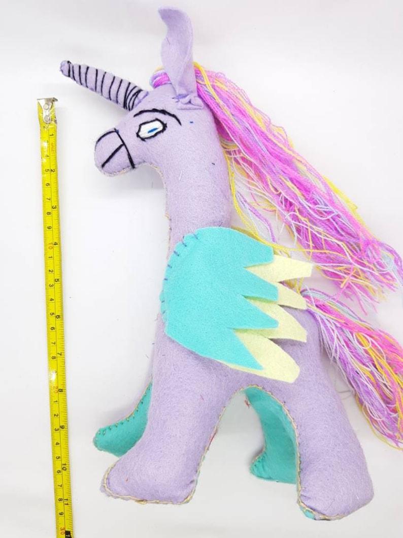 Mexican hand made plushies  stuffed natural felt unicorn  plush toys  handmade mayan wool  cinco de mayo  wool toys  mexican toys
