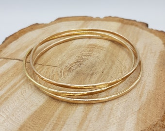 Gold bangle | Etsy