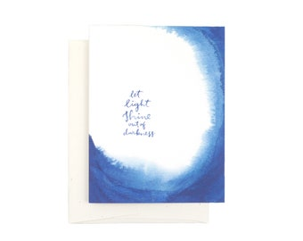 Let Light Shine Out of Darkness Indigo Card