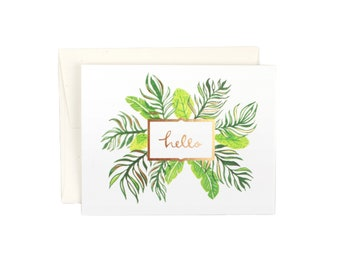 Hello Palms Gold Foil Card