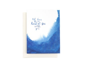 Lost at Sea Indigo Card