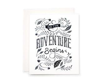 Adventure Begins Letterpress Card