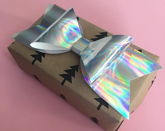 Large Holographic Gift Bow