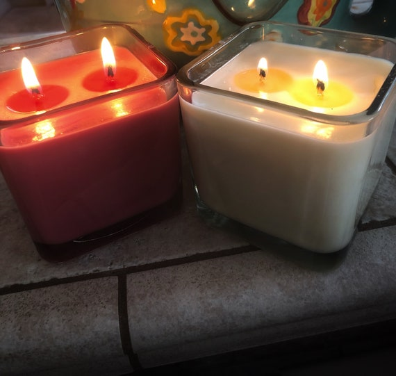 Square Soy Candle- 12 Oz