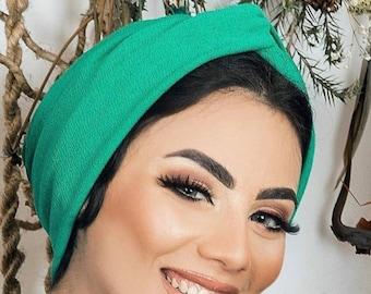 Crepe turban