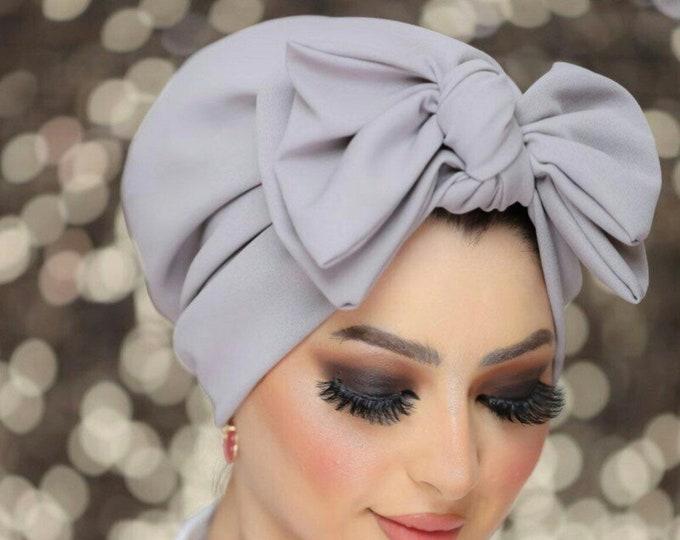 Featured listing image: Double bow all seasons crepe women turban headband