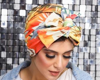 Turkish Crepe Knotted Turban Ready To Wear Turban Headband