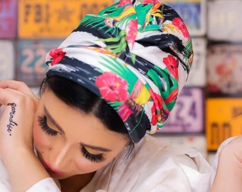 Crepe Lycra Stretchy Colorful Women turban