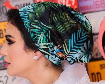 Satin Colorful Drape' Design Summer Women Turban