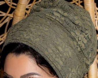 Two pieces lace turban