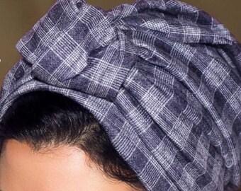 Soft wool turban