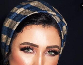 Soft Wool Cross Design Turban women turban chemohat