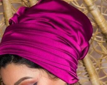 Two pieces satin women turban headband