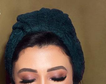 Lace high volume turban women turban turban hijab