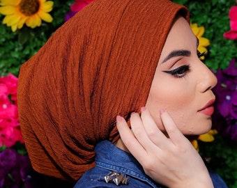Braided Crepe beanie design turban headband  women turban