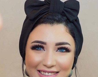 Knotted Turban bow turban summer turban chemo hat turkish Crepe turban