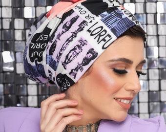 Drape Design Colorful Women Turban Summer Turban