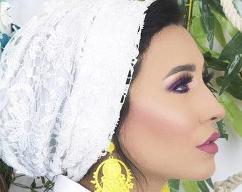 guipure crepe turban women turban elegant turban