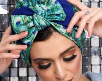 Double bow women turban headband turban hijab Chemo hat