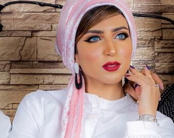 Two Pieces Turkish Cotton Turban Head Wrap