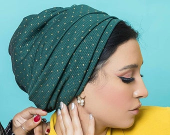 Dotted Gold Lacoste multi-way women turban