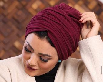 Two In One Drape Cotton Tricot Women Turban Headband