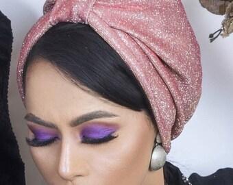 Original design glitter fabric turban , sparkling turban , women turban , chemo hat