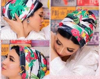 Turkish Crepe Drape Design women turban headband