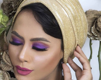 Sparkling turban, female turban  occasions turban, fancy, head cover