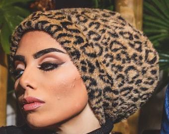 Turkish Faux Fur Women Turban Winter Hat